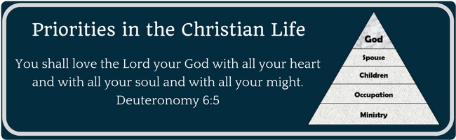 priorities in the christian life 1 god